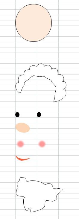15.9.9サンタさんの顔の分解図